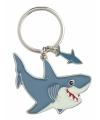 Metalen haaien sleutelhangers 5 cm