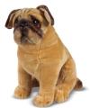 Mopshond honden knuffel 40 cm