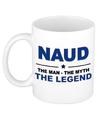 Naud The man, The myth the legend beterschap cadeau mok/beker 300 ml