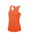 Neon oranje running singlet voor dames
