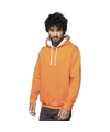 Oranje/witte sweater/trui hoodie voor heren