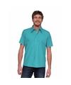 Overhemd voor heren korte mouw  turquoise