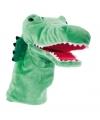 Pluche handpop krokodil 33 cm
