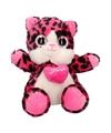 Pluche kat/poes knuffel roze 22 cm