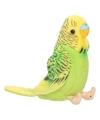 Pluche knuffel vogel Parkiet groen 11 cm