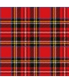 Rode servetten met Tartan opdruk 20 stuks