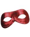 Rood metallic oogmasker voor dames