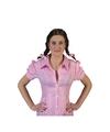 Roze geruite Tiroler blouse