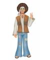 Sixties wanddecoratie hippie man