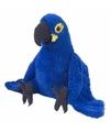 Speelgoed Blauw/paarse papegaai knuffels