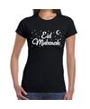 Suikerfeest Eid Mubarak t-shirt zwart dames