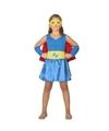 Supergirl jurk/jurkje verkleed kostuum voor meisjes