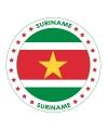 Suriname vlag thema bierviltjes