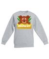 Sweater grijs voor kinderen met Browny de beer