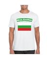 T-shirt met Bulgaarse vlag wit heren