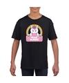 T-shirt zwart voor meisjes met Miss Magic de eenhoorn