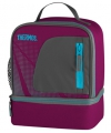 Thermos lunchtas paars koelbox 23 cm