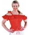 Tiroler blouse Carmen rood
