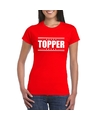 Topper t-shirt rood dames