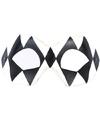Venetiaans oogmasker harlekijn zwart/wit