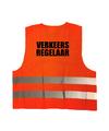 Verkeersregelaar vestje / hesje oranje met reflecterende strepen voor volwassenen