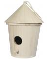 Vogelhuis rond van hout 16 cm