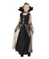 Zwart met gouden heksen jurk Adrienne voor meisjes