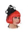 Zwarte mini hoed met tule